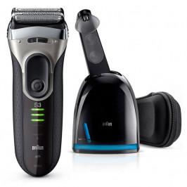 Braun Series 3 Series 3-3090 Clean&Charge černý/šedý