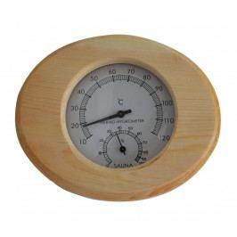 Marimex | Těploměr/vlhkoměr do sauny dřevěný - ovál | 11103001