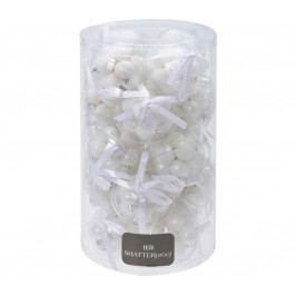 | Koule vánoční 3 cm - bílý set | 18000369