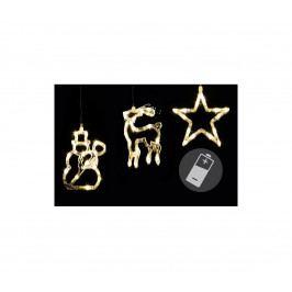 | LED dekorace na okno CLEAR - 3 ks - sob, sněhulák, hvězda | 18000414