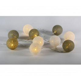 | Řetěz tkané koule 10 LED - teplá bílá | 18000415