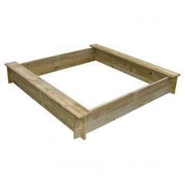 Marimex | Dřevěné pískoviště čtyřhranné se dvěma sedátky | 11640356