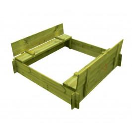 Marimex | Dřevěné pískoviště čtyřhranné s krytem/lavičkou | 11640357