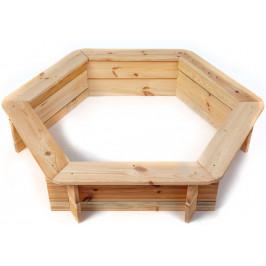 Marimex   Dřevěné pískoviště šestihranné   11640432