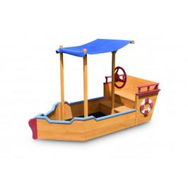 Marimex   Dřevěné pískoviště - tvar loď   11640433