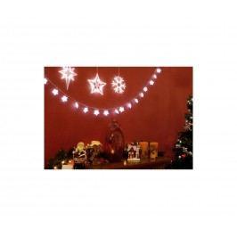 | LED dekorace na okno - 3 ks - vločka, hvězdy | 18000128