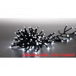 Marimex   Řetěz světelný 400 LED dvojitý - studená bílá - sada 2 ks   19900057
