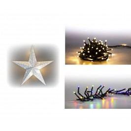 Marimex | Sada LED osvětlení (Svítící hvězda LED + světelný řetěz 200 LED + světelný řetěz 100 LED) | 19900059