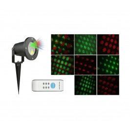 OEM Vánoční laserový projektor - zelená/červená SVÁTEČNÍ - 20 x 20 m s časovačem AT53750
