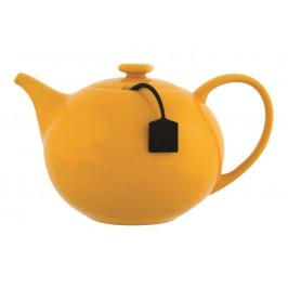 Konvice čajová se sítkem MY TEA keramika/silikon 650ml žlutá
