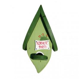 Budka ptačí list Happy Hour dřevo závěsná zelená