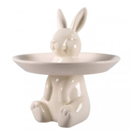 Stojánek porcelánový sedící zajíc 23,5cm