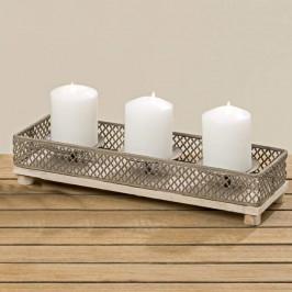 Svícen hranatý s hrotem 3 svíčky 33cm
