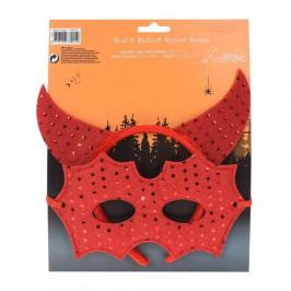 Čelenka a maska na Halloween mix motivů čert