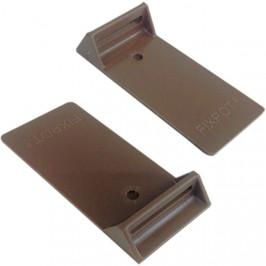 Adaptér k držáku truhlíků FIXPOT 2ks čokoláda