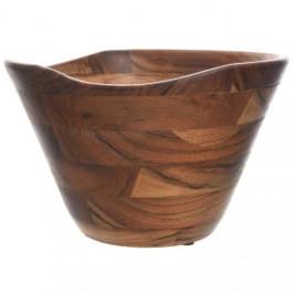 Mísa dřevěná se zvlněným okrajem 26cm