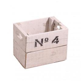 Bedna dřevěná No.4 22cm bílá