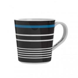 Hrnek porcelánový dekor modrý proužek MY CUP 430ml 4ks S&P