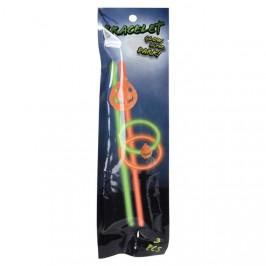 Svítící náramek plastový HALLOWEEN 20cm 2ks mix motivů dýně
