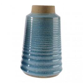 Váza kameninová úzká 26,5cm modrá mix barev světle modrá