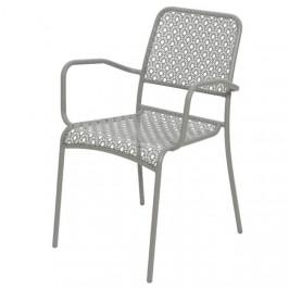 Židle kovová zahradní BERGEN 82cm šedá