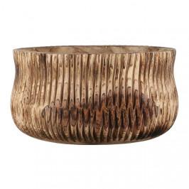 Obal dřevěný kulatý drápaný PIA 20cm hnědý