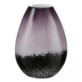 Váza skleněná LORETTA 30cm purpurová