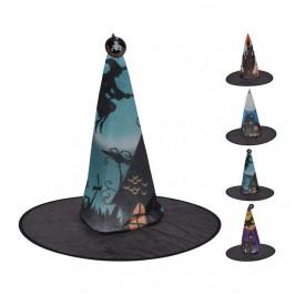 Klobouk čarodějnický HALLOWEEN potisk mix