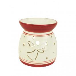 Aromalampa dekor anděl porcelán bílá/červená 11cm
