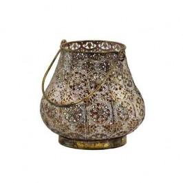 Lucerna/Svícen NANCY ornamenty 1 ucho kov 17cm