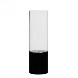 Svícen YENTL sklo černá 26cm