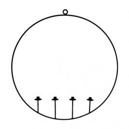 Svícen PUKHAN na 4 svíčky v kruhu závěsný