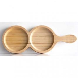 Talíř servírovací ABELLA s rukojetí dvojitý bambus 32cm