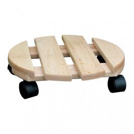 Podložka na kolečkách kulatá dřevo