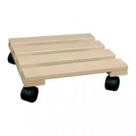 Podložka na kolečkách hranatá dřevo