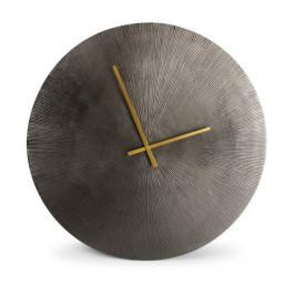 Hodiny kulaté ZONE kov S&P černé patina 58cm