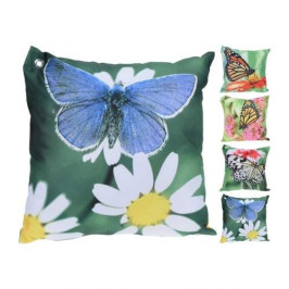 Polštář dekor motýl s květinami mix 45x45cm