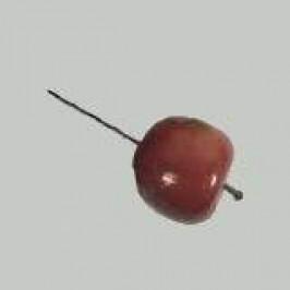 Jablko umělé na drátku 4,5cm červené