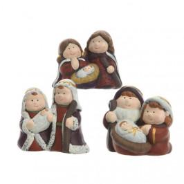Figurka Svatá rodina z terakoty 6,5cm mix tvarů A