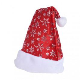 Čepice vánoční filcová dekor vločky 45cm