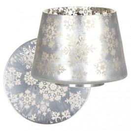 Stínítko a talíř velké YANKEE CANDLE Snowflake Frost