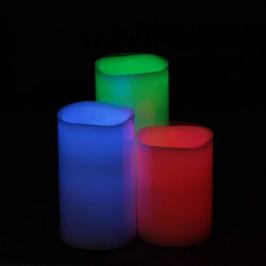 Svíčka LED měnící barvu 3ks dálkové ovládání