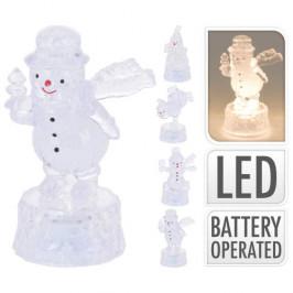 Figurka vánoční svítící LED plast baterie mix 9cm