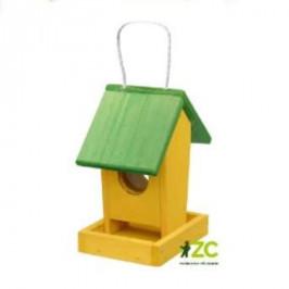 Krmítko závěs dřevo žluto-zelené