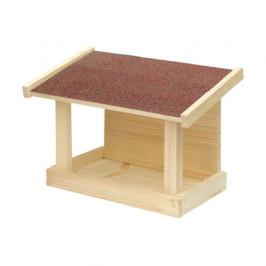 Krmítko jednostranné dřevo přírodní/hnědá 34cm