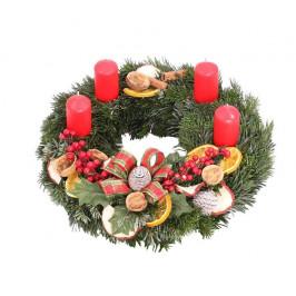 Adventní věnec 25cm Přírodní Vánoce s