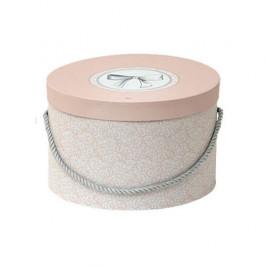 Krabice klobouková MADM.MARQUISE 1 ucho papír růžová 36cm