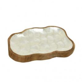 Mísa atyp ovál dřevo/perleť 20cm