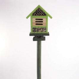 Dům/hotel pro hmyz zápich dřevo zelená 65cm