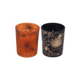 Svíčka sklo HALLOWEEN mix 6,5cm